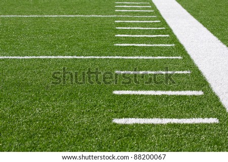 Yard Lines of a Football Field with room for copy - stock photo