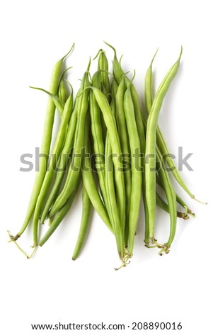 Yard long bean isolated on the white background