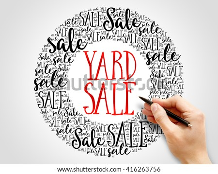 YARD SALE words cloud, business concept background - stock photo