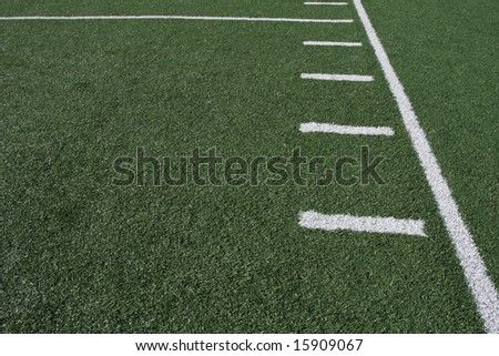 Yardlines of a football field - stock photo