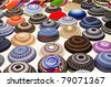 yarmulkes collection - stock photo
