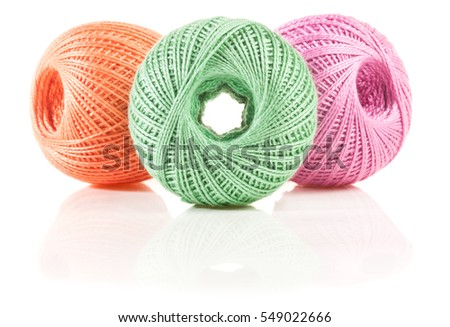 Yarn isolated on white
