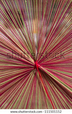Yarn used to weave or knit fabric pattern which is used in a religious ceremony with Buddhist tradition - stock photo