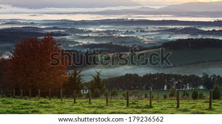 Yarra Valley from the Dandenong Mountains
