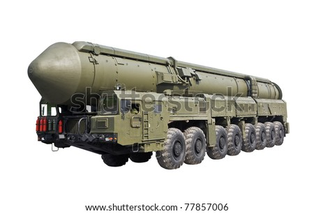 Yars ICBM (SS-24) - Russia's solid-fuel intercontinental ballistic missile mobile - stock photo