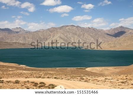 Yashikul lake in Pamir mountains, Tajikistan - stock photo