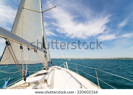 Yatch sail and desk