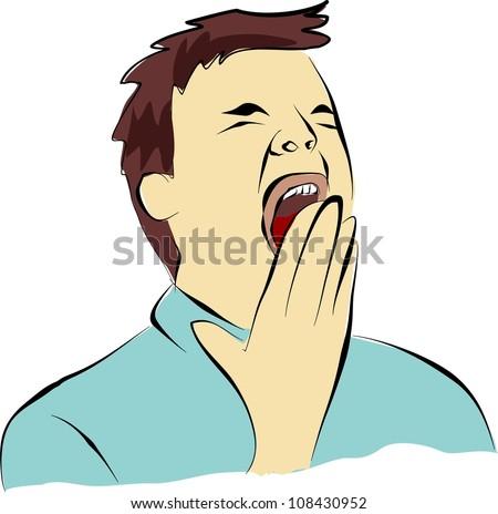 yawn gape stock illustration 108430952 shutterstock boy yawning clipart girl yawning clipart
