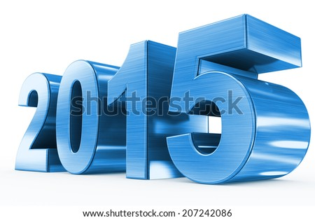 year 2015 blue metal - stock photo