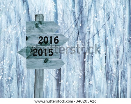 year-end and New Year - stock photo