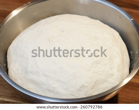 Yeast dough let stand to rise