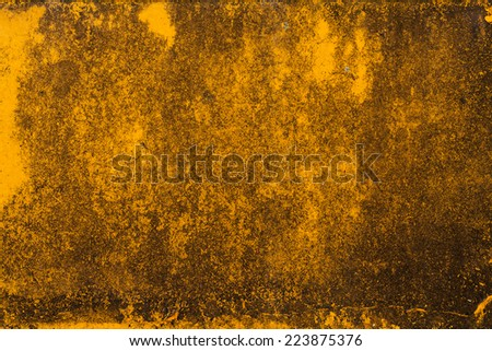 Yellow abstract rusty background.