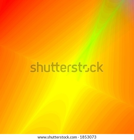 Yellow abstract star - stock photo