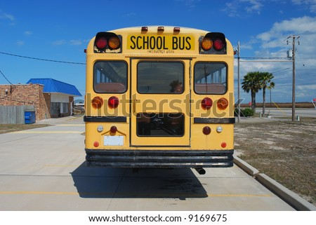 Yellow American School Bus - stock photo
