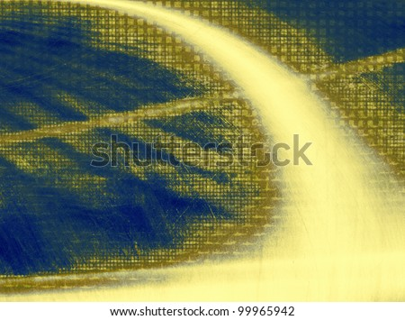 Yellow and blue digital background. - stock photo