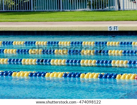 Olympic Swimming Pool Lanes lanes competition olympic size swimming pool stock photo 474098110