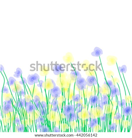 Yellow and blue wildflowers