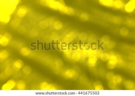 Yellow and bokeh background