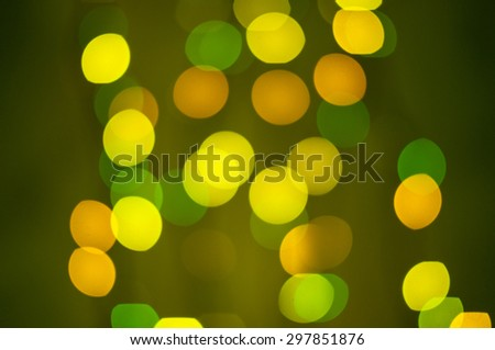Yellow and green defocused bokeh lights. Copy paste background - stock photo