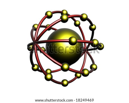 Yellow and red molecule