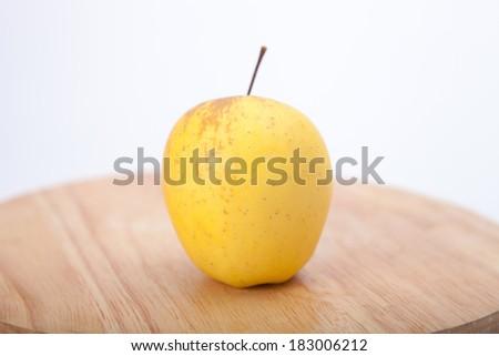 yellow apple - stock photo