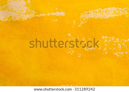 Yellow background Abstract watercolor style.