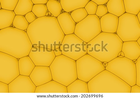 yellow background from the cells or bubbles - stock photo