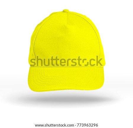 Yellow Baseball Cap on a white background