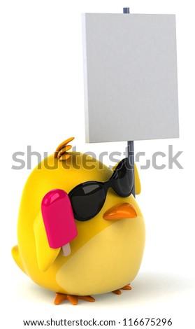 Yellow bird - stock photo