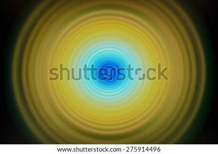 yellow blur vivid small layer circle abstract wave sound Rippled :circular digital effect art circle for you created technology web - stock photo