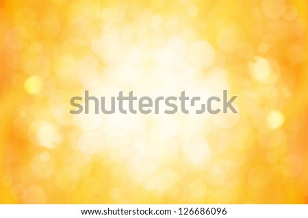 yellow bokeh abstract background. - stock photo