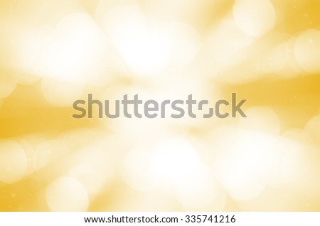 yellow bokeh abstract light background. - stock photo