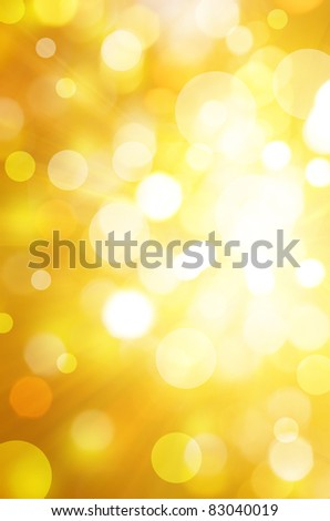 yellow bokeh background - stock photo