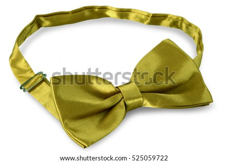Yellow bow Tie, isolated on white background