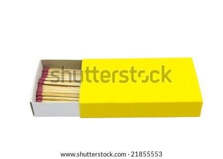 Yellow box of matches - stock photo