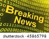yellow breaking news illustration - stock photo