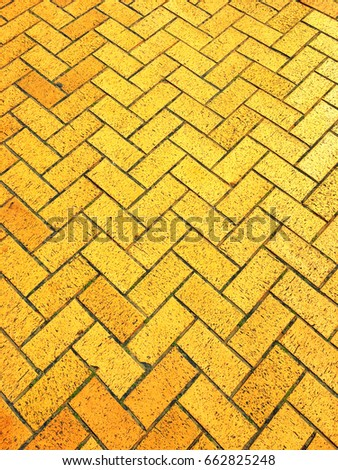 Yellow brick road;  background of yellow brick path