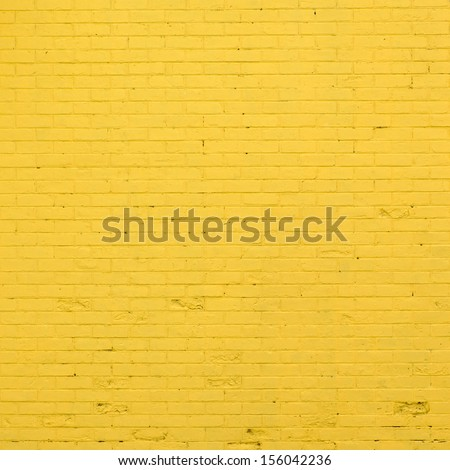 yellow brick wall texture - stock photo