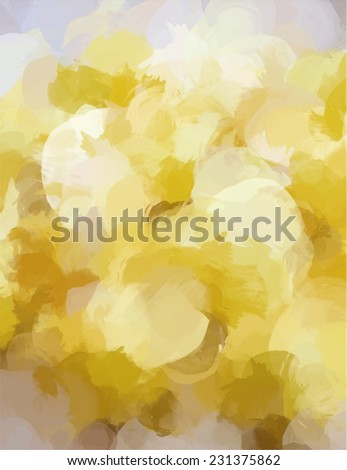 Yellow brush stroke paint. Abstract illustration. - stock photo