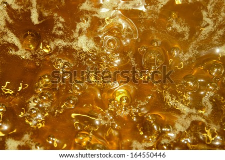 Yellow bubbles as a happy background - stock photo
