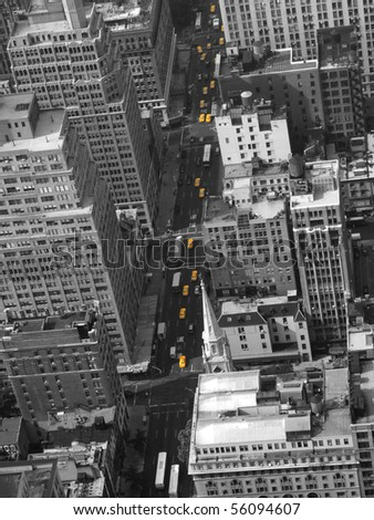 Yellow Cabs New York - stock photo