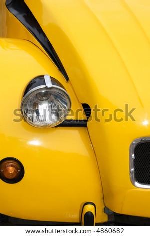 Yellow Car Front Light - stock photo