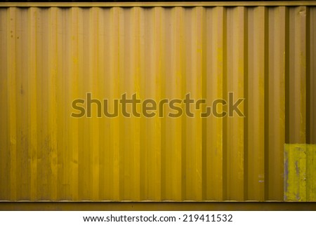 yellow Cargo containers - stock photo