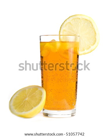 yellow cold drink - stock photo