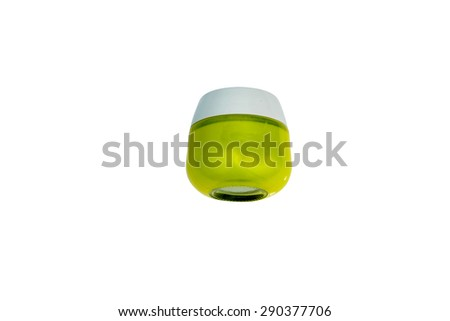 yellow container on white background - stock photo