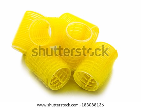 Yellow curlers