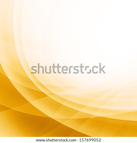 Yellow Curved Abstract Background - stock photo