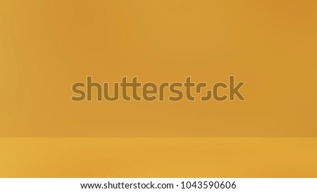 Yellow 3d room. Background