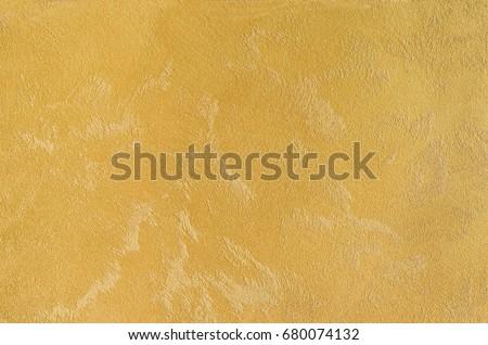 Yellow Decorative Plaster Sand Effect Matte Stock Photo (Edit Now ...