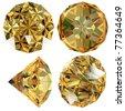 Yellow Diamond gem isolated - stock photo